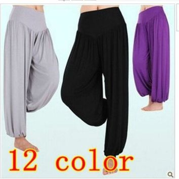 High Waist New 2014 Women Harem Pants Yoga Modal Dancing Trouser Loose Plus Size Sport Pants = 1932712452