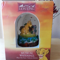 "1994 Disney Lion King ""Akuna Matata"" Musical Snowglobe"