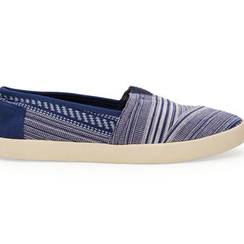 TOMS Ink Tribal Woven Women's Avalon Sneaker Blue