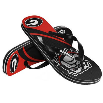 Georgia Bulldogs Official NCAA Unisex Big Logo Thong Flip Flops