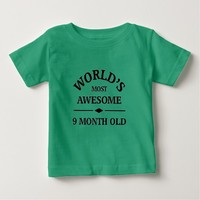 World's most awesome 9 month old tees