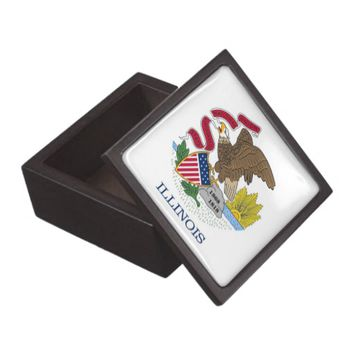 Illinois State Flag Premium Gift Box