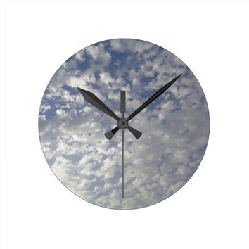Multiple Clouds, Sky View Wallclocks