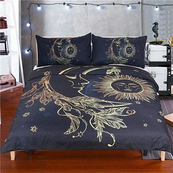 Sun and Moon Bedding Set