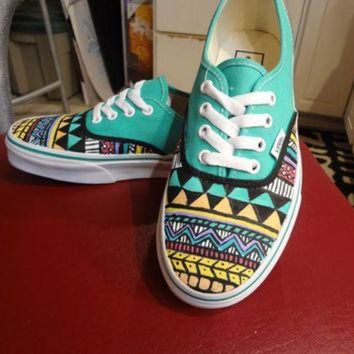 LMFON Aztec/Tribal Vans (Shoes/ Sneakers - MADE TO ORDER)