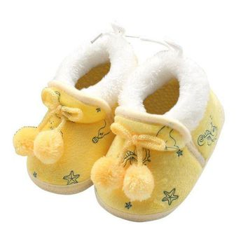 DCK7YE Spring Soft Baby Boots Slip on Infant Girl Shoes Winter Warm Bootie 0-18M
