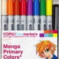 Copic Markers 9-Piece Ciao Manga Set, Primary