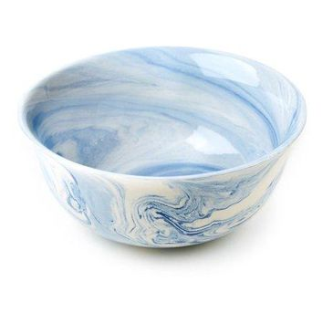 Terre Melee Blue Porcelain Flared Bowl
