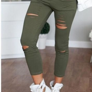 Slim was thin pantyhose high elastic front hole PANTS