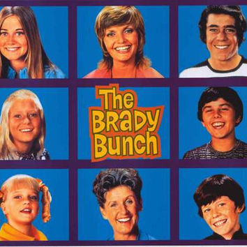 The Brady Bunch Family Grid Poster 22x34