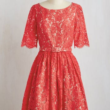 Mid-length Short Sleeves Fit & Flare Ladylike It, Love It, Need It Dress by ModCloth