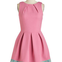 Luck Be a Lady Dress in Pink and Tapestry | Mod Retro Vintage Dresses | ModCloth.com