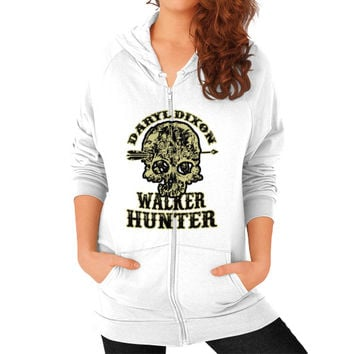 Daryl dixon walker hunter Zip Hoodie (on woman)