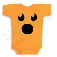 SURPRISED Jack-O-Lantern Baby Shirt Creeper Baby Shower Infant T-Shirt Cute Halloween Costume ORANGE Romper Rabbit Skins