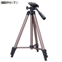WT3130 Aluminum alloy Camera Tripod Stand with Rocker Arm for Canon Nikon Sony DSLR Camera Camcorder Load up to 2.5kg