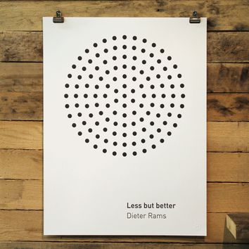 Less But Better Poster