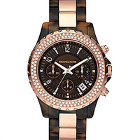 Michael Kors Rose Goldtone/Faux-Tortoise Chronograph Watch | Dillards.com