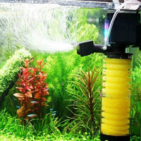 Aquarium filter mute three in one built-in filter for aquarium filtration oxygen pump 20W 1200L/H 200L