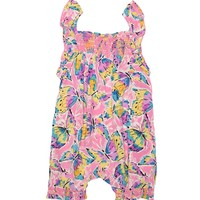 Muiti Oasis Butter Butterfly Print One Piece Romper by Juicy Couture,
