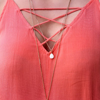 Tranquility Teardrop Necklace