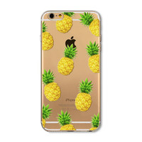 Lovely little pineapple transparent phone case for iphone 5 5s SE 6 6s 6 plus 6s plus + Nice gift box 072701