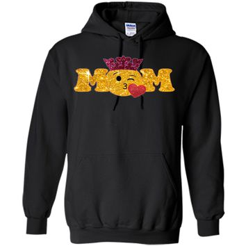 Kissing Emoji Mom TShirt With Crown Mom Is Above Queen  - mother's day