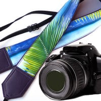 Purple camera strap. DSLR Camera Strap. Sea Camera Strap. Beach camera strap. Camera accessories. Photographer gift.