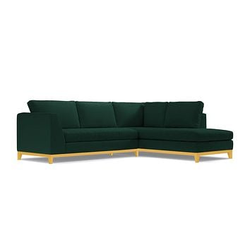 Mulholland Drive 2pc Sectional Sofa :: Leg Finish: Natural / Configuration: RAF - Chaise on the Right