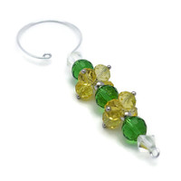 Green and Gold Beaded Christmas Ornament Set - Christmas Decorations - Beaded Holiday Ornaments - Christmas Baubles - Packers Fan Gift