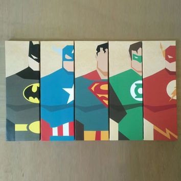 Oil Canvas Painting Modern Wall Art Canvas Prints Super Hero Artwork Modular Decorative Wall Pictures Living Room Kids Picture