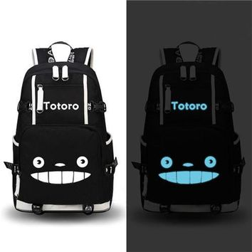 Japanese Anime Bag HOT-sale fashion Canvas men backpack  My Neighbor Totoro Printing schoolbag women shoulder travel bag Mochila AT_59_4