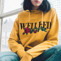 WELL FED Women Fashion Round Neck Top Pullover Sweater Sweatshirt
