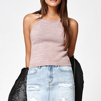 Kendall & Kylie Marled Goddess Neck Sweater Tank Top at PacSun.com
