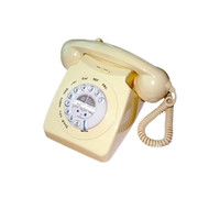 vintage yellow phone ;