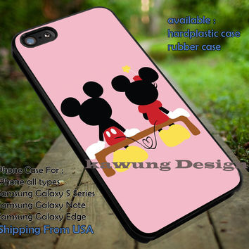 Couple In Love Cute, Mickey, Minnie, Disney, Mouse, case/cover for iPhone 4/4s/5/5c/6/6+/6s/6s+ Samsung Galaxy S4/S5/S6/Edge/Edge+ NOTE 3/4/5 #cartoon #animated #disney #MickeyMouse ii