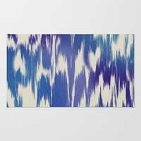 Ikat Splash: Blue Multi Rug by Eileen Paulino