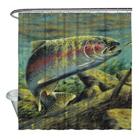 WILD WINGS/RAINBOW TROUT 2 - SHOWER CURTAIN - 71x74