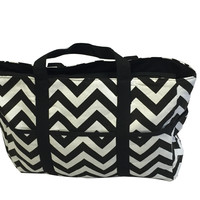 BayB Brand Diaper Bag - Black & White Chevron