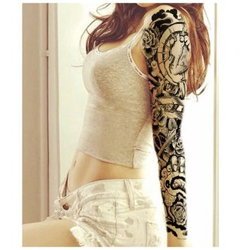3Pcs Transferable Tattoos For Women Men Metallic Tattoo Body Arm Makeup Waterproof Temporary Stickers Henna Tattoo Fake Tattoos