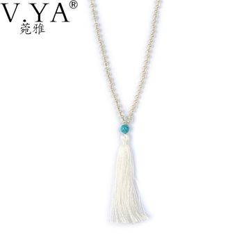 V.Ya Buddha head Fashion Tassel Necklaces Collares Collier Colar Long Bijoux Bohemian Simulated Pearl Femme Kolye Colares Gifts