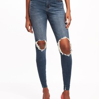 Mid-Rise Rockstar Distressed Ankle Jeans for Women | Old Navy
