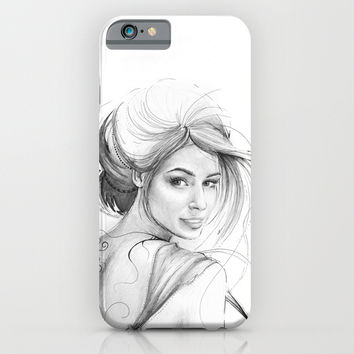Beautiful Fairy Drawing iPhone & iPod Case by Olechka