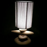 BoGaLeCo.com / Ligths / Lamps / reclaimed wood / Lamp average icy pebbles