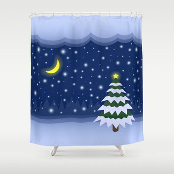 Christmas fairytale Shower Curtain by Natalia Bykova | Society6