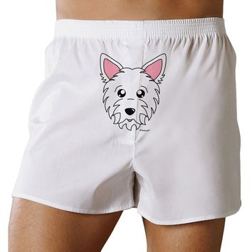 Cute West Highland White Terrier Westie Dog Front Print Boxer Shorts by TooLoud