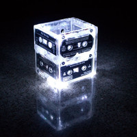 Night Light Music Cassette Tape Small  by coolrecycledstuff
