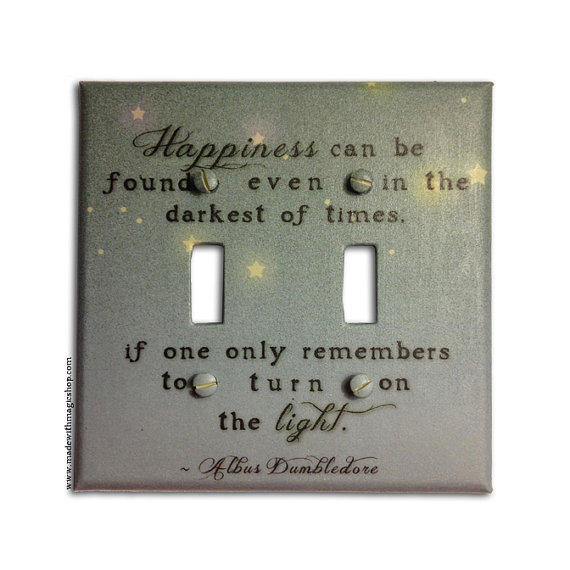 Turn On The Light DOUBLE - Harry Potter Inspired Switch Plate