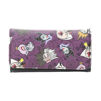 Loungefly Disney Villains Striped Flap Wallet