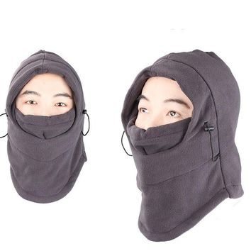 Windproof Hat Thickened Ski Face Mask Fleece Hood Sports Mask Cap for Riding Skiing Mountaineering