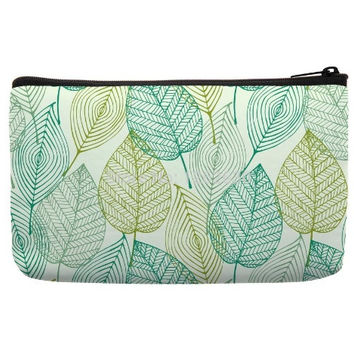 Cosmetic Bags For Sale in nature pattern in green color for cosmetic travel bag Cute Makeup Bags